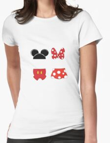 Mickey and Minnie Icons Womens Fitted T-Shirt