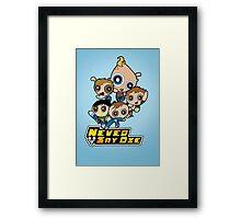 Powerpuff Goonies Framed Print
