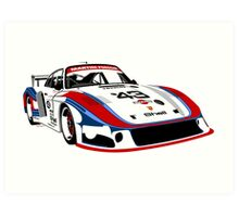 Porsche 935 Group 5 Moby Dick Art Print