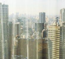 Morning Tokyo Skyline Sticker