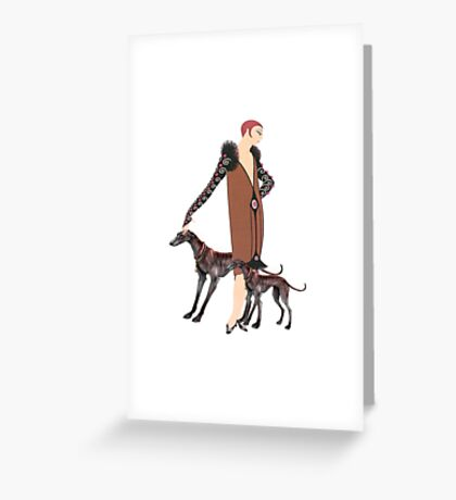 Greyhound Glamour Greeting Card