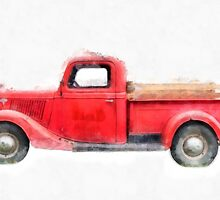 Old Red Ford Pickup by Edward Fielding
