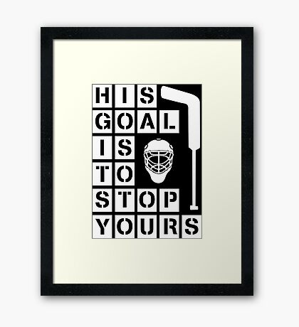 Ice Hockey Goalie  Framed Print