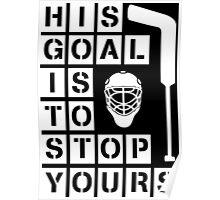 Ice Hockey Goalie  Poster