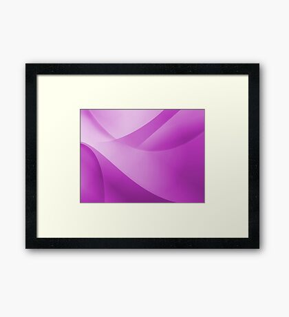 Purple Wallpaper Framed Print