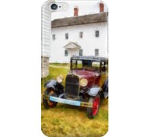 Ford Model A Watercolor iPhone Case/Skin