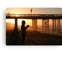 Photographer At Sunset Canvas Print