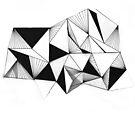 Geometric Triangle Pattern by Jeanette  Treacy