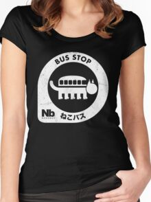 Neko Bus Stop Women's Fitted Scoop T-Shirt