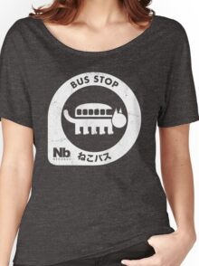 Neko Bus Stop Women's Relaxed Fit T-Shirt