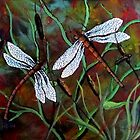 dancing dragonflies  by Dawn  Hawkins