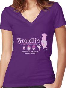 Fratelli's Family Restaurant Women's Fitted V-Neck T-Shirt