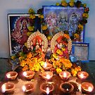 Diyas for Diwali Puja by Lydia Cafarella