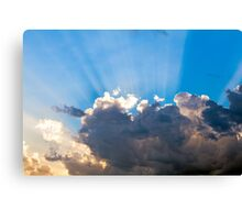 Clouds In The Blue Sky and Sun Rays Canvas Print
