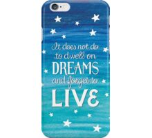"Harry Potter: Dumbledore ""Dreams"" Quote iPhone Case/Skin"