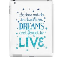 "Harry Potter: Dumbledore ""Dreams"" Quote iPad Case/Skin"