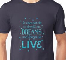 "Harry Potter: Dumbledore ""Dreams"" Quote Unisex T-Shirt"