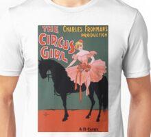 Vintage Circus Girl Poster Unisex T-Shirt