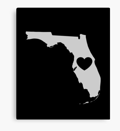 Florida Love Heart Canvas Print