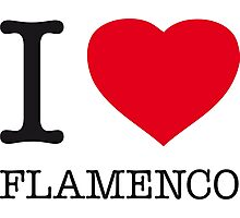 I ♥ FLAMENCO Photographic Print