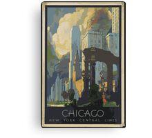 Vintage poster Chicago Canvas Print