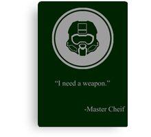 Gray Halo Master Chief Icon Canvas Print