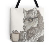 Hipster Wolf Tote Bag