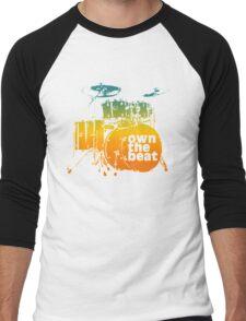 Drummer T shirt - own the beat Men's Baseball ¾ T-Shirt
