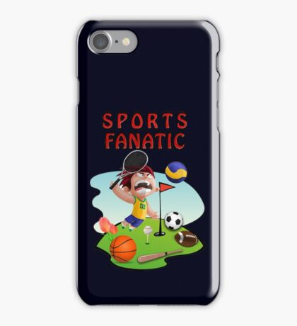 Funny Crazy Colorful Sports Fanatic Meme T-Shirt iPhone Case/Skin