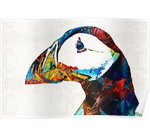Colorful Puffin Art By Sharon Cummings Poster