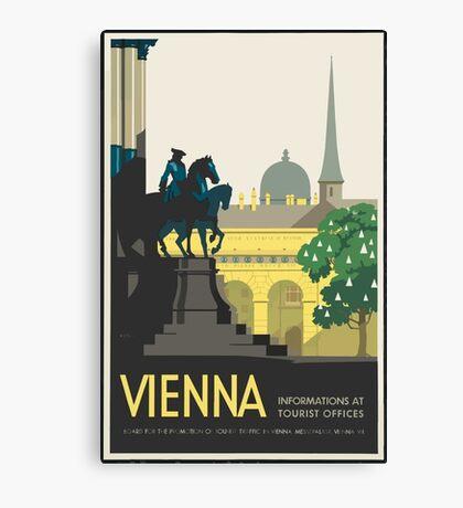 Vintage Travel Poster Vienna Canvas Print