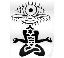 Meditator - Eyepeople Poster