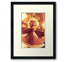 Angel on Christmas Tree Framed Print