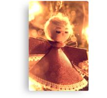 Angel on Christmas Tree Canvas Print