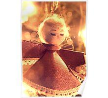 Angel on Christmas Tree Poster