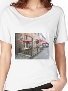 Downtown Charleston sidewalk Women's Relaxed Fit T-Shirt