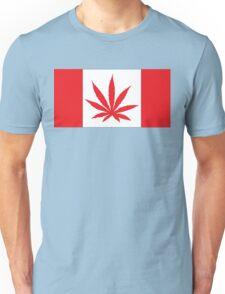 Canadian Flag Marijuana Leaf Unisex T-Shirt