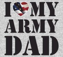 I LOVE MY ARMY DAD One Piece - Long Sleeve