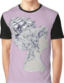 Marie Antoinette Rococo Ship hair Graphic T-Shirt