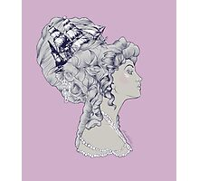 Marie Antoinette Rococo Ship hair Photographic Print