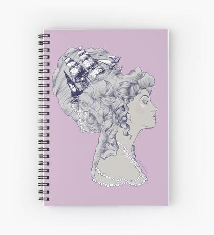 Marie Antoinette Rococo Ship hair Spiral Notebook