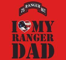 I LOVE MY RANGER DAD Kids Clothes