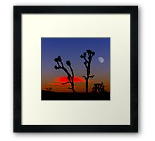 Sunset Over Mojave National Preserve 2 Framed Print