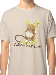 Pokemon /A Raichu - Alolan Surf Team Classic T-Shirt