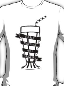 The Early Morning Milk Drinkers Logo T-Shirt