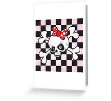 girl power skull Greeting Card