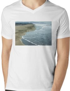 San Francisco Fog - Ocean Beach Rolling Surf Mens V-Neck T-Shirt