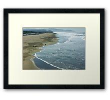 San Francisco Fog - Ocean Beach Rolling Surf Framed Print