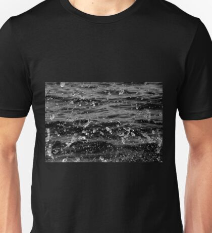 Dancing Water In Black And White Unisex T-Shirt