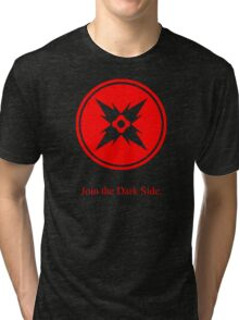 Dark Side Red Symbol Tri-blend T-Shirt